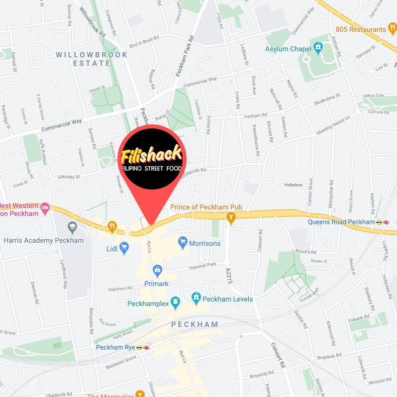Map Showing the loaction of Filishack